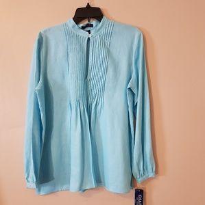 Nwt Chaps blouse tunic size:L